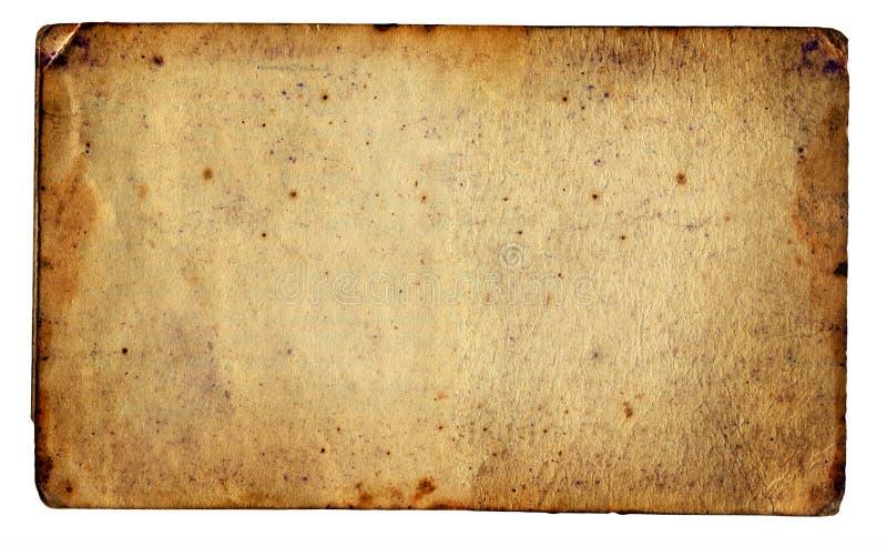 Weinlese-Papier lokalisiert stockfoto
