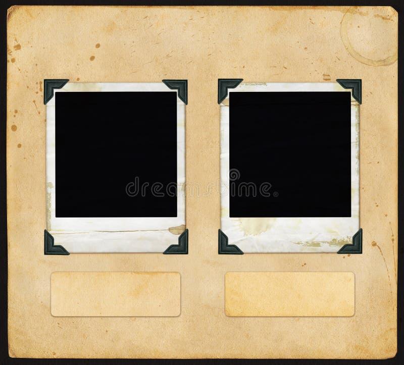 Weinlese-Papier - mit Polaroid lizenzfreies stockbild