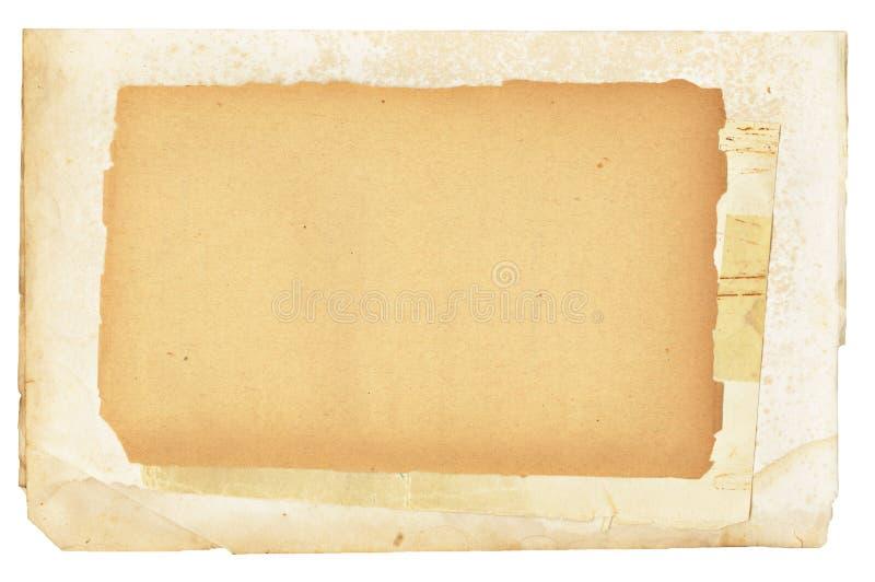 Weinlese-Papiere überlagert stockfotos