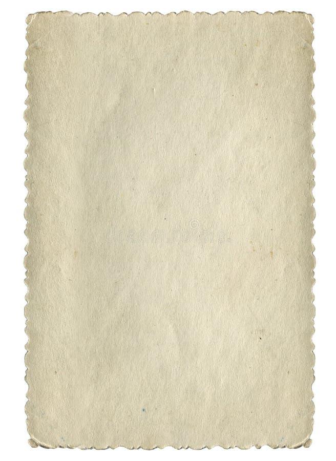 Weinlese-Papierseite lizenzfreies stockfoto