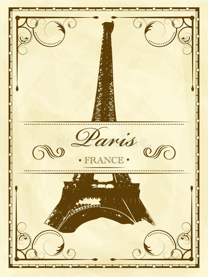 Weinlese Paris vektor abbildung