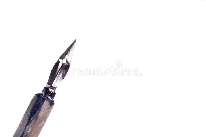Weinlese Penholder Alt und verwendet, Stift mit Tintenmetallkopf schreibend lizenzfreie stockbilder