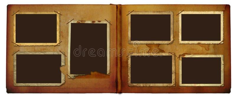 Weinlese photoalbum für Fotos vektor abbildung