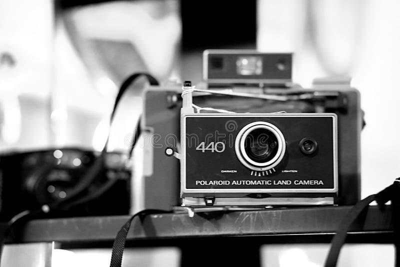 Weinlese-Polaroid stockfotos