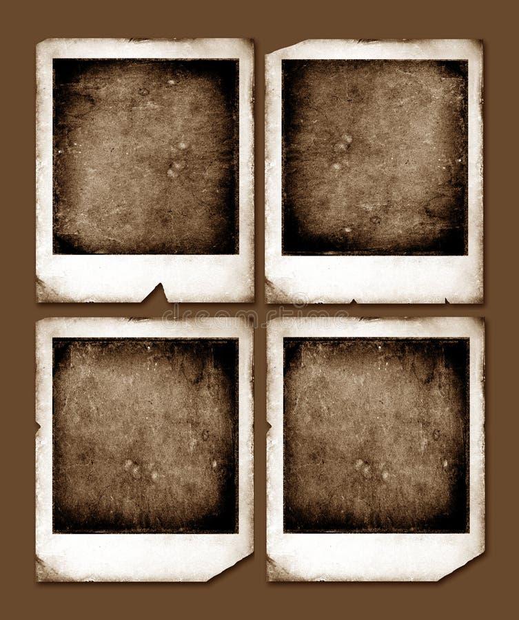 Weinlese-Polaroidfelder vektor abbildung