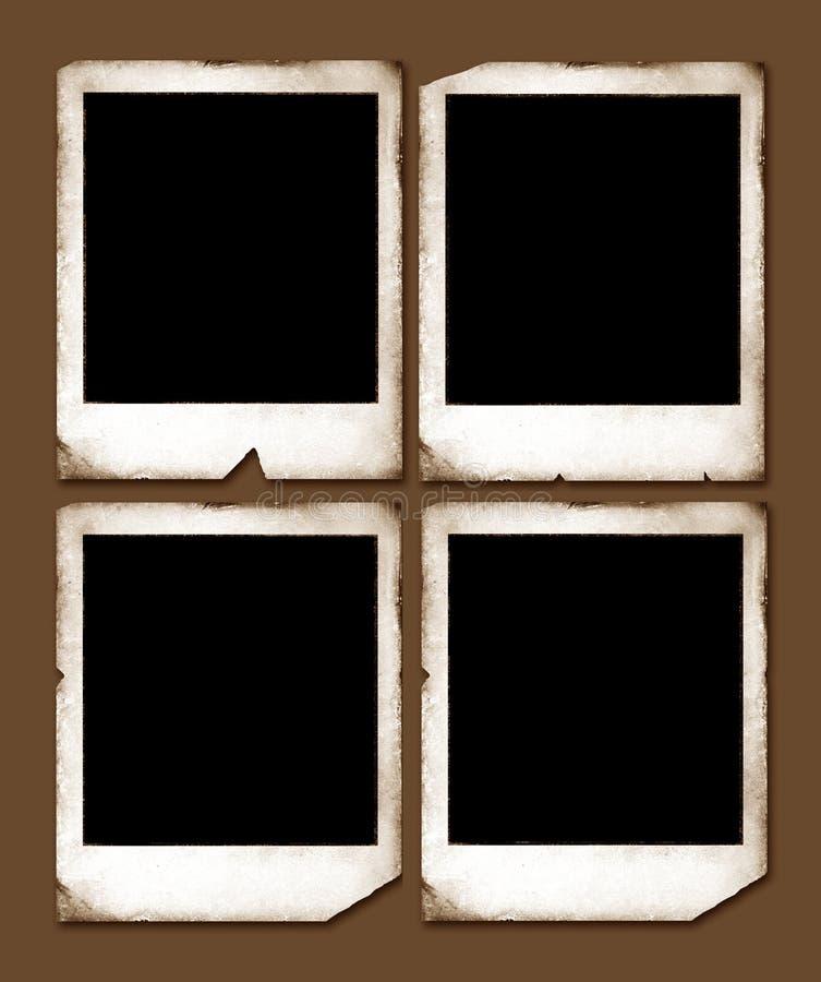 Weinlese-Polaroidfelder lizenzfreie stockfotos