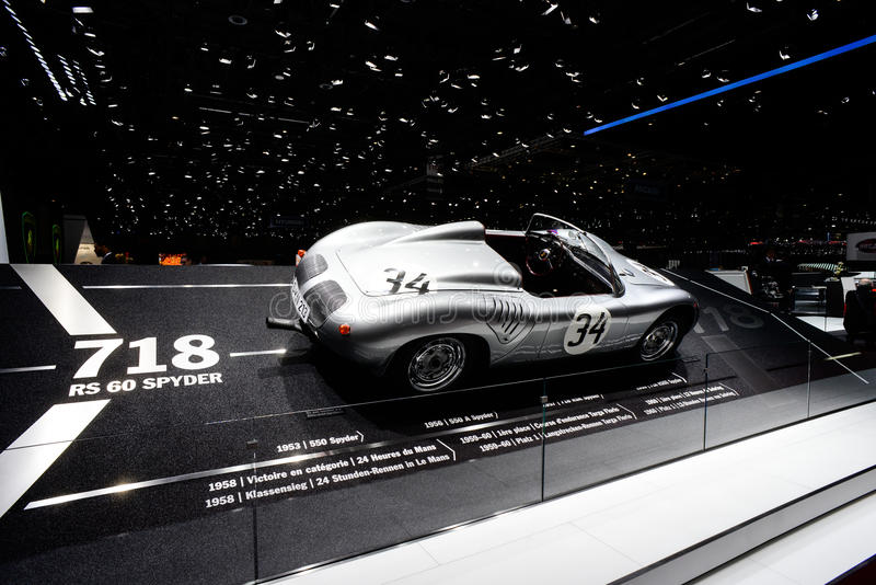 Weinlese Porsche 718 RS 60 Spyder stockfoto