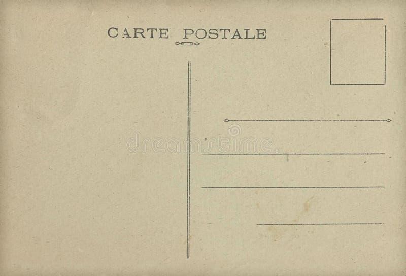 Weinlese-Postkarte-Rückseite stockbilder