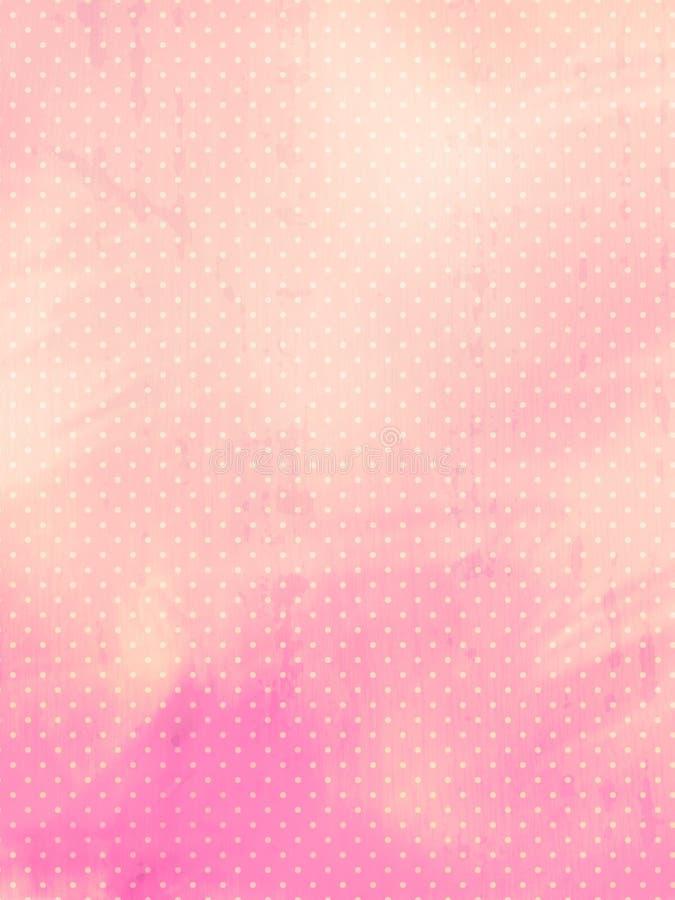 Weinlese punktiert Hintergrund lizenzfreie abbildung