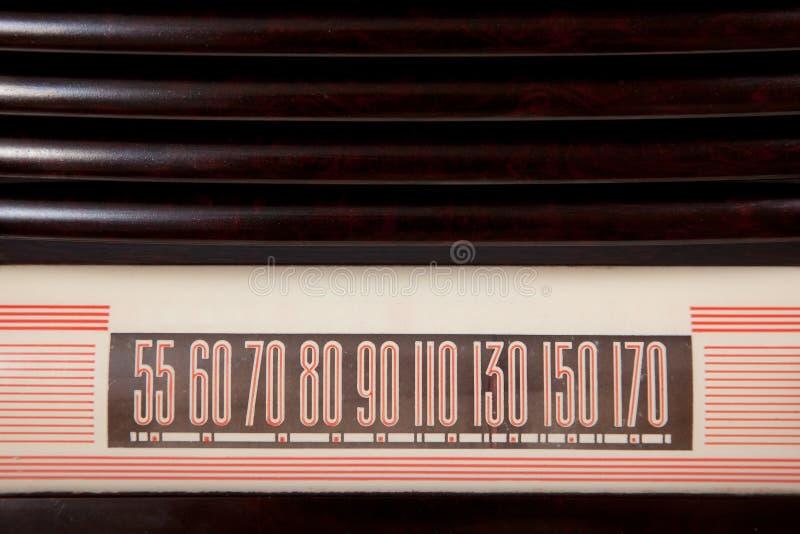 Weinlese-Radiovorwahlknopf-Hintergrund stockbilder