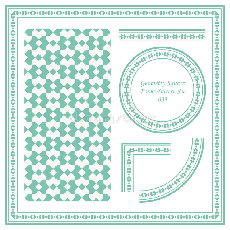 Weinlese-Rahmen-Muster Stellte Quadrat Der Geometrie-039 Ein Vektor ...