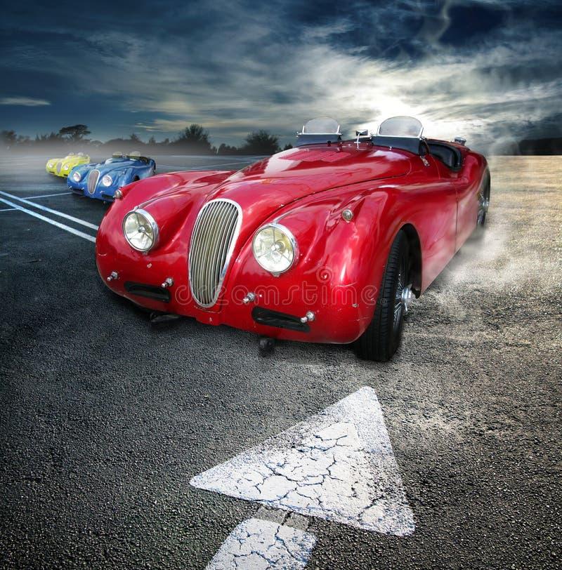 Weinlese Roadsters lizenzfreies stockfoto
