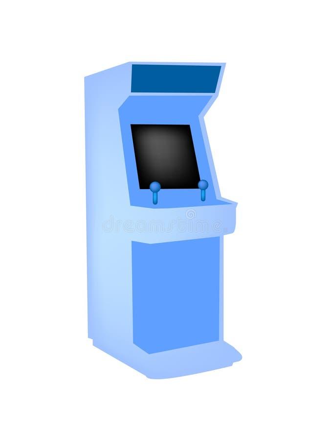 Weinlese-Säulengangspielsystem stock abbildung