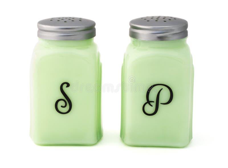 Weinlese-Salz-und Pfeffer-Schüttele-Apparat stockfoto
