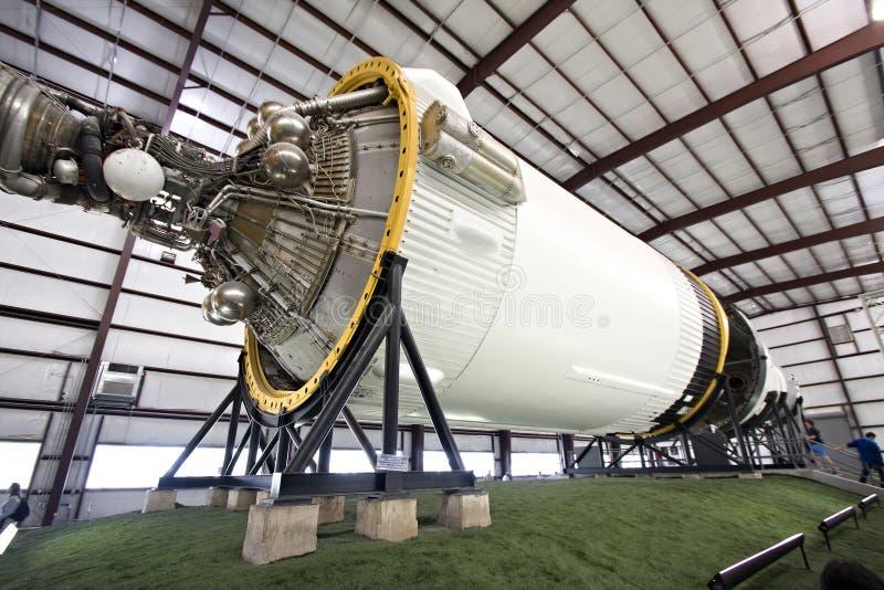 Weinlese Saturn-V-Rakete stockbilder