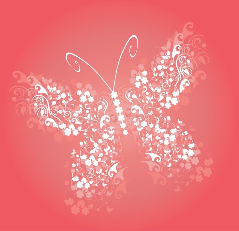 Weinlese-Schmetterlings-Vektor vektor abbildung
