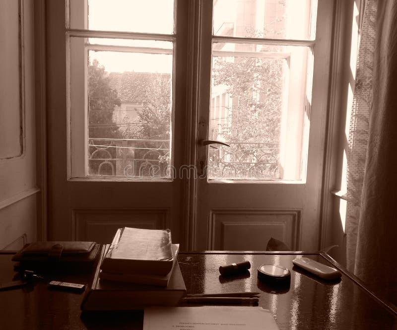 Weinlese Sepia-Bibliothek stockbilder