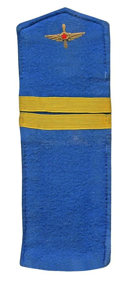Weinlese sowjetischer blauer Gewehrriemen getrennt, lizenzfreies stockfoto