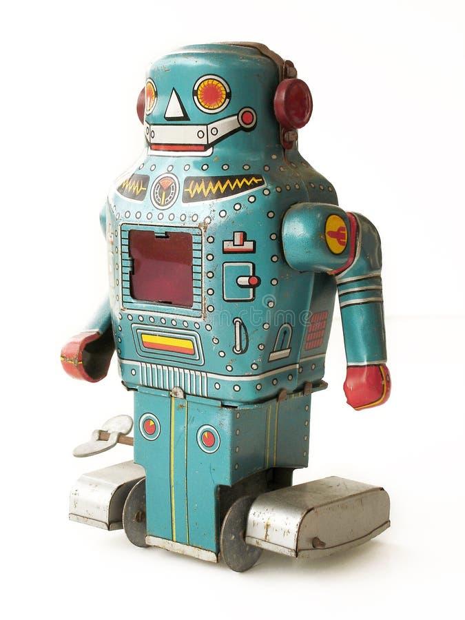 Weinlese-Spielzeug-Roboter lizenzfreie stockbilder