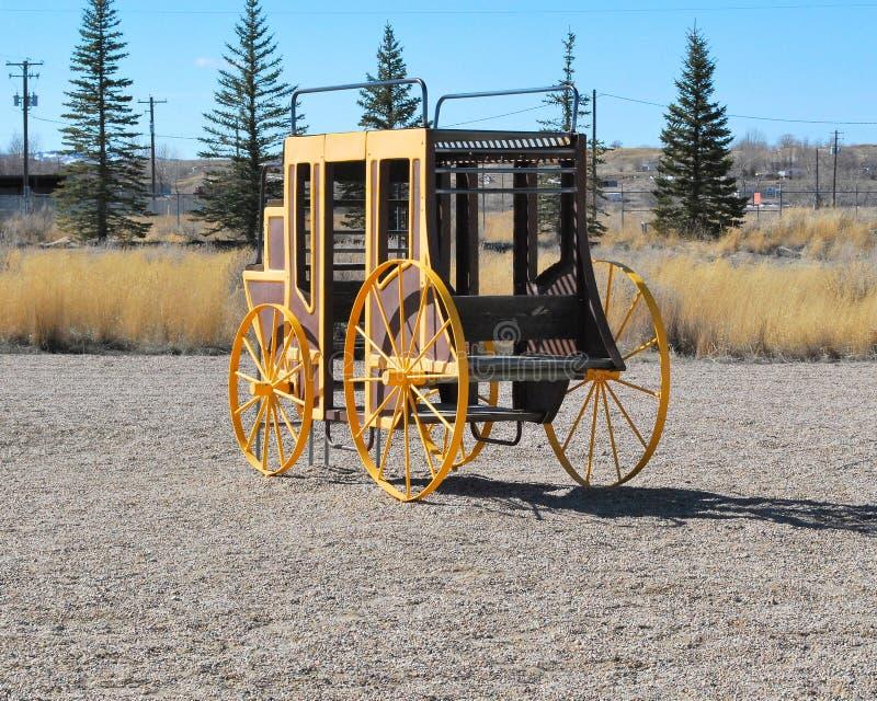 Weinlese Stagecoach lizenzfreies stockfoto