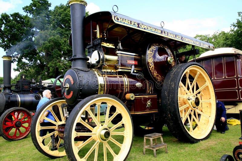 Weinlese Straßendampflokomotive 1911 Fowler B6 stockfoto