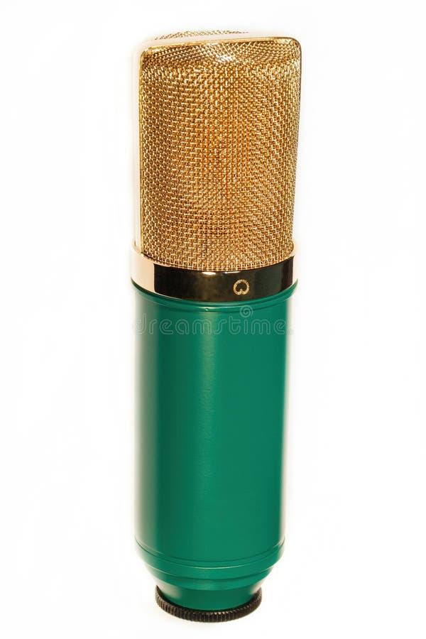 Weinlese-Studio-Kondensator-Mikrofon stockfotografie