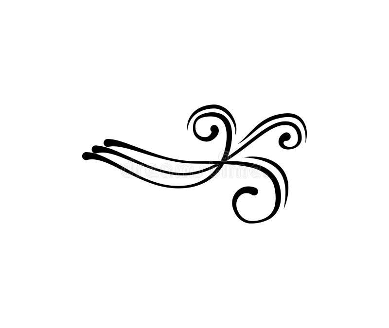 Weinlese swirly mit Filigran geschmücktes Element Flourish für Design Auch im corel abgehobenen Betrag vektor abbildung
