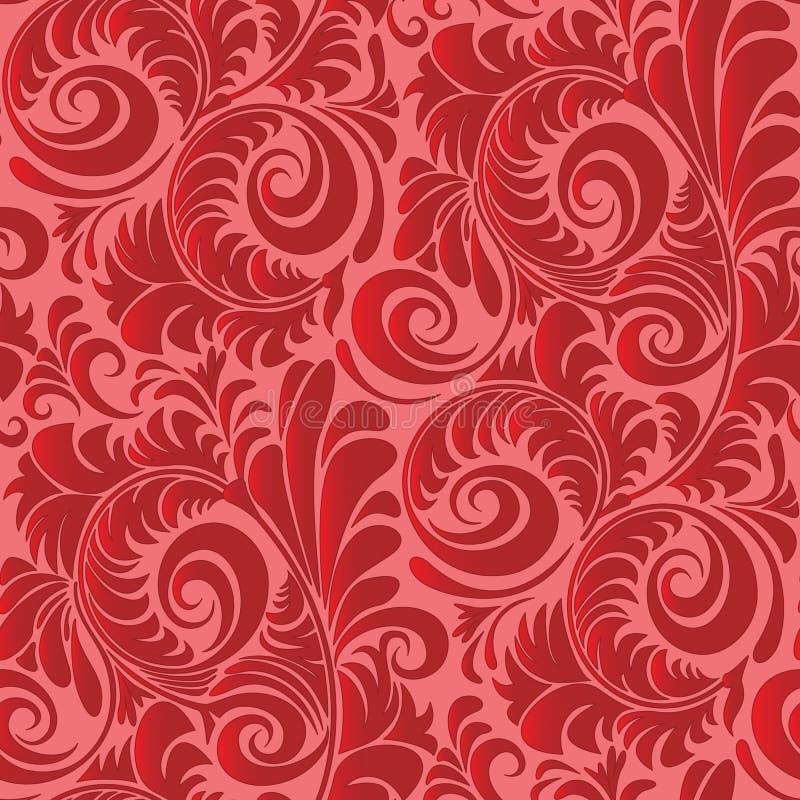 Weinlese-Tapeten-Muster lizenzfreie abbildung