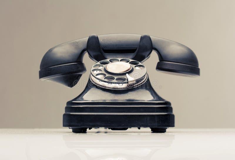Weinlese-Telefon stockfotografie
