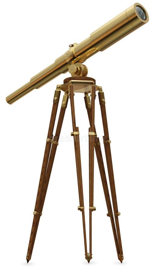 Weinlese-Teleskop lizenzfreie stockfotos