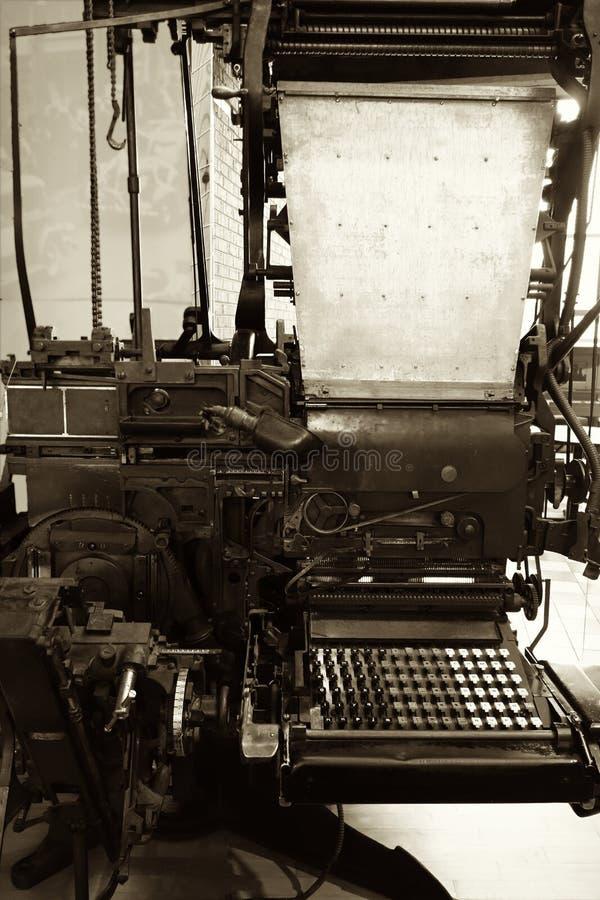 Weinlese Teletypesetter stockbilder