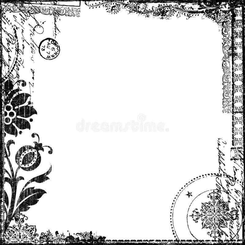 Weinlese-Text-Collagen-viktorianisches Hintergrund-Papier vektor abbildung