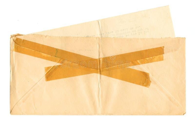 Weinlese-Umschlag und Buchstabe lizenzfreie stockbilder