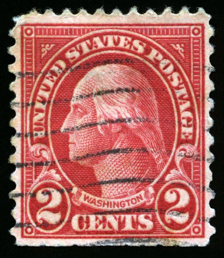 Weinlese US-Briefmarke von Präsidenten Washington lizenzfreies stockfoto
