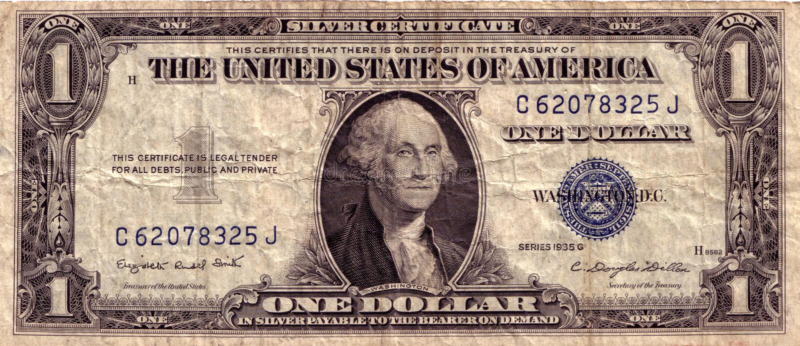 Weinlese US-Dollar stockbild