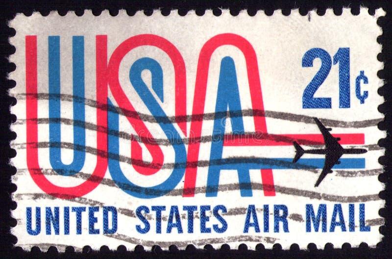 Weinlese US-Stempel stockbild