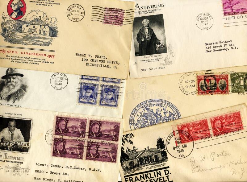 Weinlese USA-Umschlag lizenzfreies stockbild