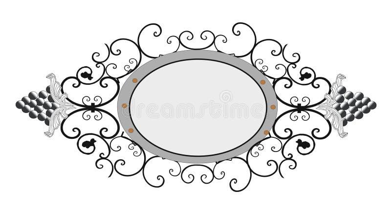 Weinlese-Vektor Florenelemente für den Entwurf von Monogrammen, von Einladungen, von Rahmen, von Menüs, von Aufklebern und von We stock abbildung