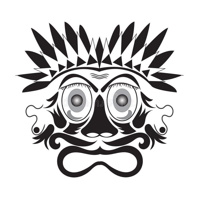 Weinlese Vektorillustration der Maske lizenzfreie abbildung