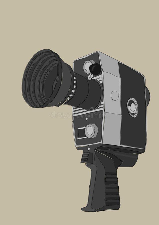 Weinlese-Videokamera lizenzfreies stockbild