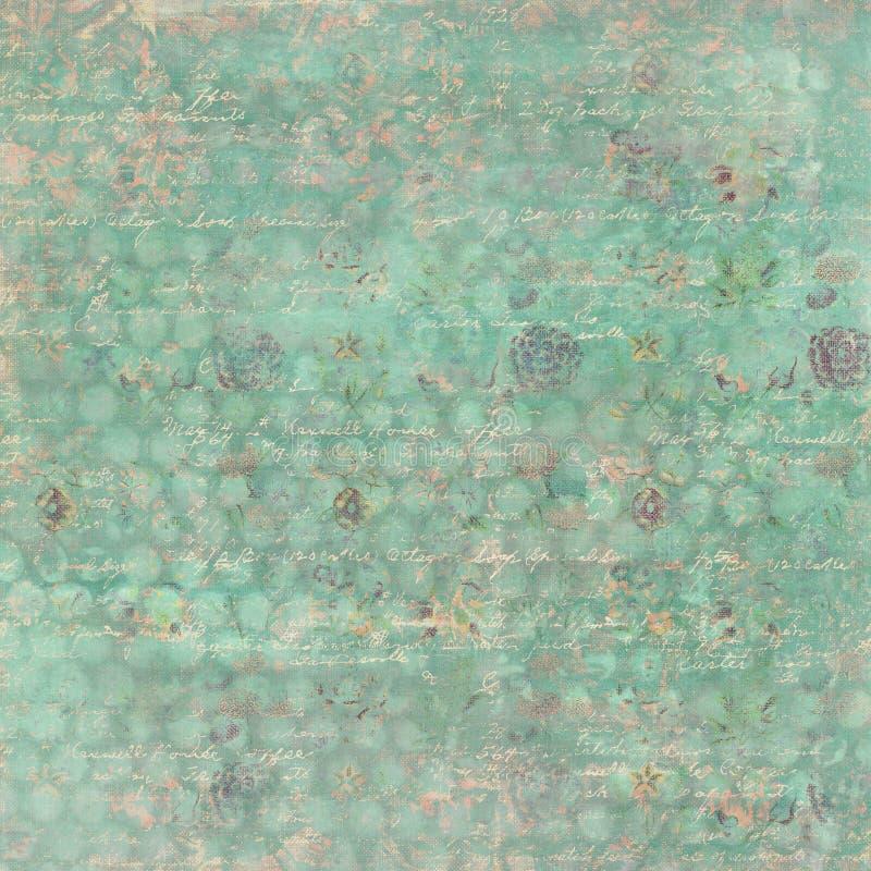 Weinlese-weich Grungy Blumentapeten-Muster mit Stellen lizenzfreie stockbilder