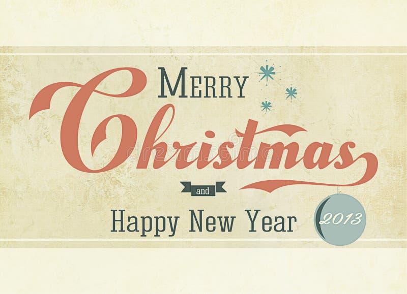 Weinlese-Weihnachten 2013 stock abbildung