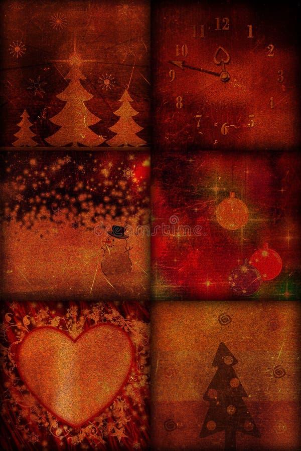 Weinlese-Weihnachten lizenzfreie abbildung