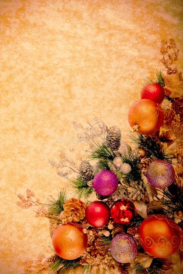 Weinlese-WeihnachtenDesing Serie lizenzfreie stockbilder