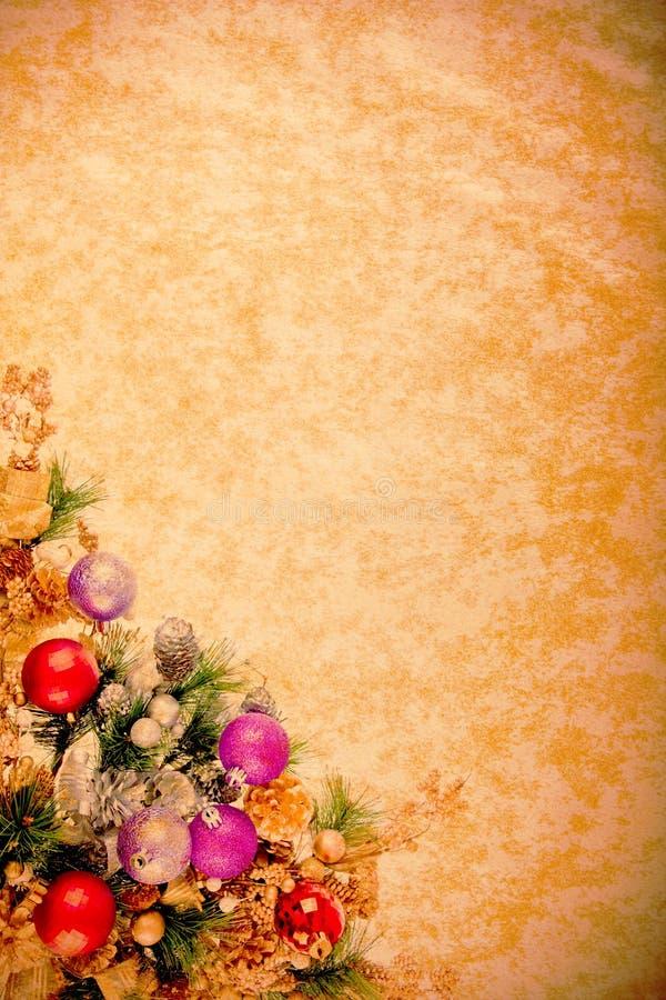 Weinlese-WeihnachtenDesing Serie stockfoto