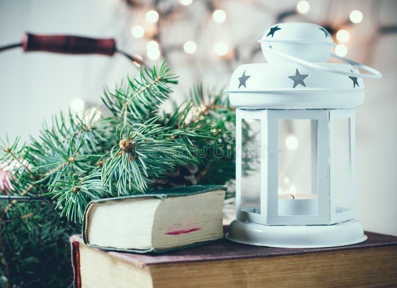 Weinlese-Weihnachtsdekor stockfotografie