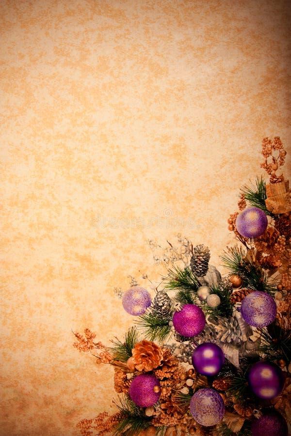 Weinlese-Weihnachtsdekoration-Serie lizenzfreies stockbild