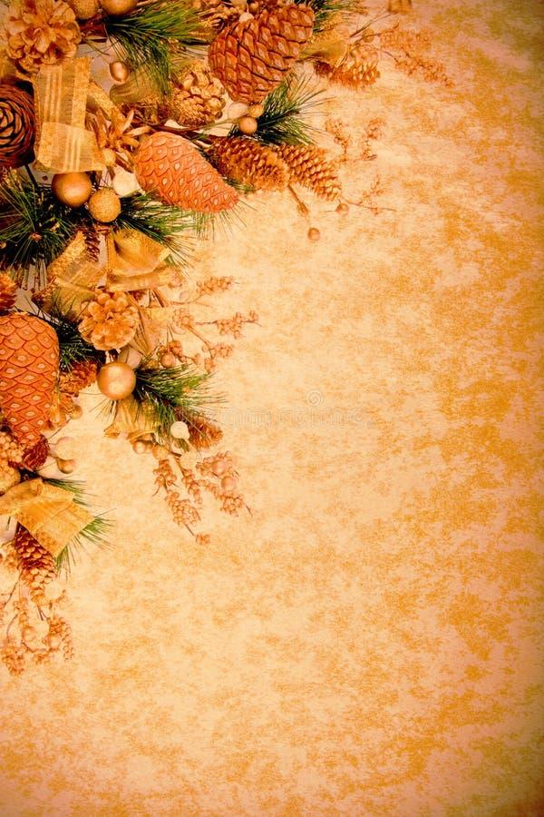 Weinlese-Weihnachtsdekoration-Serie lizenzfreie stockfotos