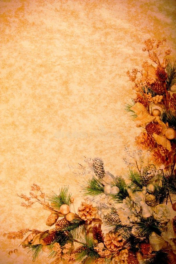 Weinlese-Weihnachtsdekoration-Serie lizenzfreie stockbilder