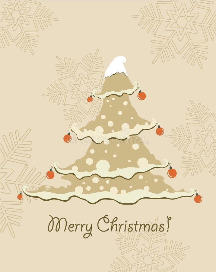 Weinlese-Weihnachtskarte. stock abbildung